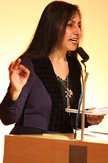 Imtiaz Dharker at the British Library 12 April 2011.jpg