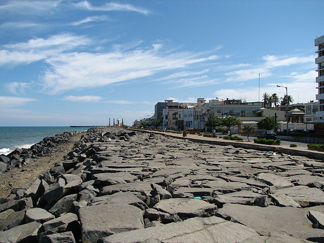 Pondicherry sea wall