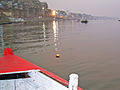 India - Varanasi - 013 - my flower offering to Mother Ganga for my familys health (2147060990).jpg