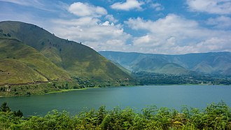 Lake Toba - A view of Lake Toba and Samosir Island from Sipisopiso