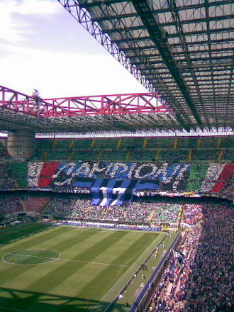 2008–09 Serie A - Inter Milan supporters celebrate the 17th title