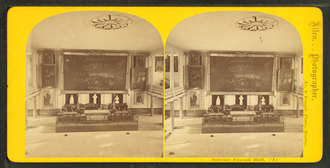 Edward L. Allen - Image: Interior, Faneuil Hall, by E. L. Allen