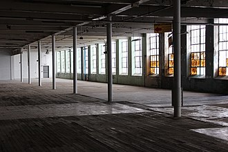 Southern Bleachery and Print Works - Interior space, 2018