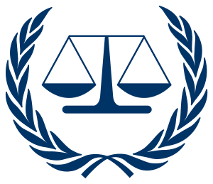 English: International Criminal Court (ICC) logo