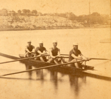 'Atalanta Boat Club crew (of NYC) in Philadelphia for the 1876 Centennial International Regatta