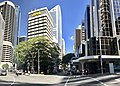 Intersection of Eagle Street and Queen Street, with ANL House, Brisbane.jpg