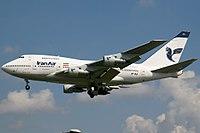 تصویر: https://upload.wikimedia.org/wikipedia/commons/thumb/a/ae/Iran_Air_Boeing_747SP_Wedelstaedt.jpg/200px-Iran_Air_Boeing_747SP_Wedelstaedt.jpg