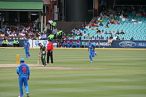 Irfan Pathan - Irfan Pathan taking his run-up in an ODI against Australia in 2012