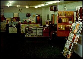 Mapsco - The interior of the Mapsco store in Dallas in the 1970s