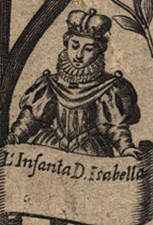 Isabel of Viseu - Isabel of Viseu in a c. 1645 genealogy of the Kings of Portugal (National Library of Portugal).