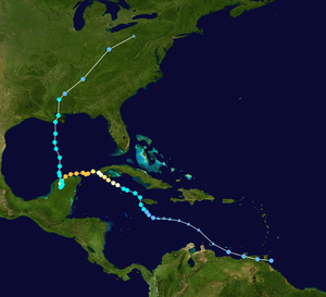 Hurricane Isidore - Image: Isidore 2002 track