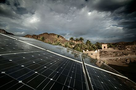 Solar cell panels in eastern Morocco Isofoton Marruecos.JPG