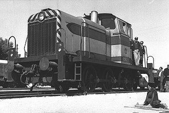 Maschinenfabrik Esslingen - Esslingen shunting locomotive № 228 at the service of Israel Railways in 1959.