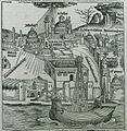 Istanbul during the great storm of July 1490 which caused extended fires and human losses and was seen by several Christ - Schedell Hartmann - 1493.jpg
