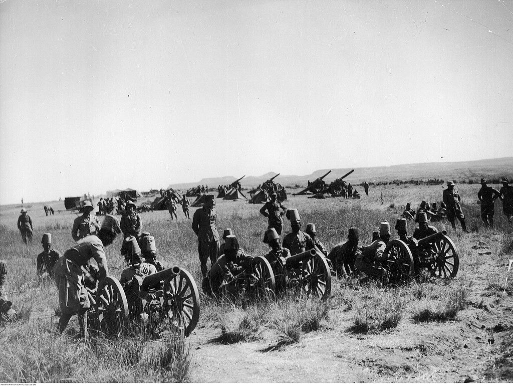 Italian artillery during the Second Italo-Ethiopian War