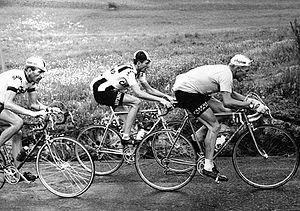 1964 Giro d'Italia - Image: Italo Zilioli, Jacques Anquetil and Vittorio Adorni 1964