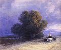 Ivan Constantinovich Aivazovsky - Ox Cart Crossing a Flooded Plain (detail).JPG