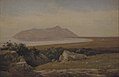 Jørgen V. Sonne - Monte Circeo Seen from the District of Terracina - KMS3833 - Statens Museum for Kunst.jpg