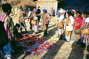 Derung people - Image: J.share the meat equally