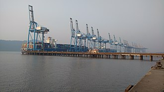Jawaharlal Nehru Port - JNPT View From portside