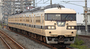 117 series - JR-West 117 series in original livery, August 2009