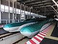 JRH H5 H2 JRE E5 U14 Shin-Hakodate-Hokuto Station north 20160406.jpg