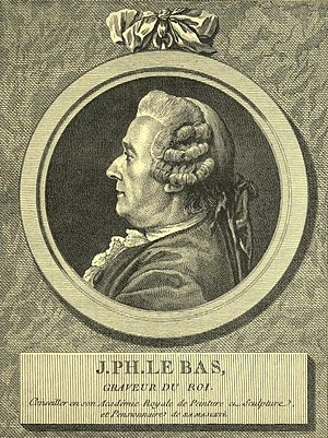 Jacques-Philippe Le Bas - Engraved by Louis-Jacques Cathelin after Charles-Nicolas Cochin (1798)