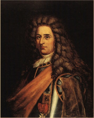 Naval battle off St. John (1696) - Jacques Testard de Montigny (1663-1737)