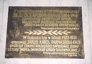 Jakub Karol Parnas - Jakub Parnas memorial