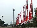 Jalan Silang Merdeka Tenggara umbul-umbul.JPG