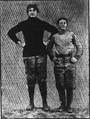 James C. Elmer - At Auburn; the larger Elmer next to quarterback C. J. Williams