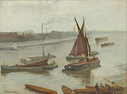 James McNeill Whistler: Grey and Silver: Old Battersea Reach