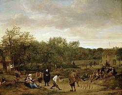Jan Steen: Peasants playing Skittles