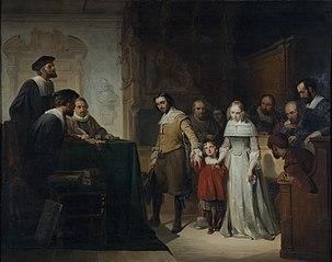 'De echtscheiding', naar gedicht van Hendrik Tollens