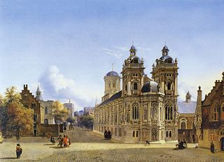 Cityscape with a Church and a Square