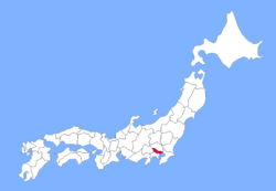 Map of Japan with Tokyo highlighted