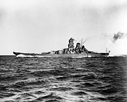 Japanese battleship Yamato running trials in Sukumo Bay, 30 October 1941 (80-G-704702).jpg