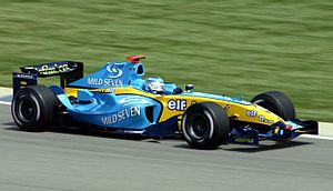 Mild Seven Renault F1 Team finished third in t...