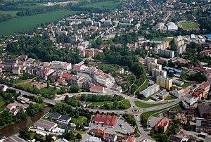 Jaroměř - Air photo of centrum