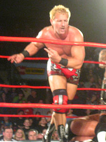 Jeff Jarrett posing in a wrestling ring