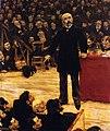 Jean-François Raffaëlli - Georges Clemenceau prononçant un discours dans une réunion électorale.jpg