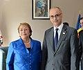 Jefa de Estado sostuvo un encuentro bilateral con el Jefe de Gobierno de Andorra. señor Antoni Martí (15804786107).jpg