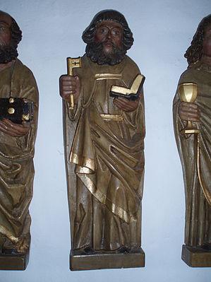 Jelling Kirke 10 Apostlen Peter.JPG