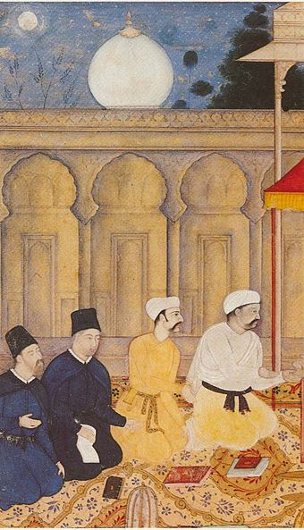 Jesuits at Akbar's court in India, c. 1605 Jesuits in the 'Ibadat-Khanah'.jpg
