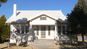 National Register of Historic Places listings in Guadalupe County, New Mexico - Image: Jesus M. Casaus house from SW 1
