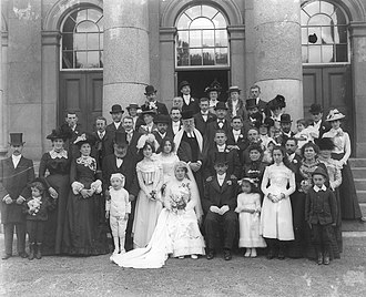 History of the Jews in Ireland - Jewish wedding at the Waterford Courthouse, early September 1901.