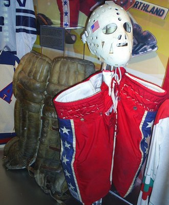 Miracle on Ice - Jim Craig's gear from 1980, at the Hockey Hall of Fame