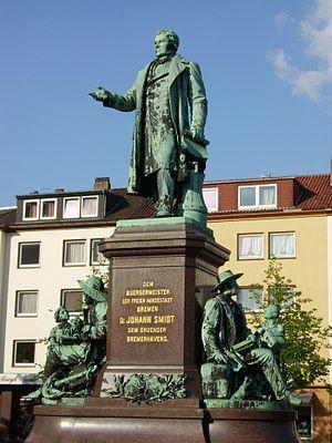 Johann Smidt - Memorial to Johann Smidt in Bremerhaven