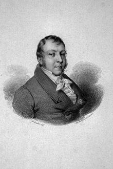 Johann Nepomuk Hummel, Kupferstich von Franz Xaver Stöber nach einer Zeichnung von Ehregott Grünler (Quelle: Wikimedia)