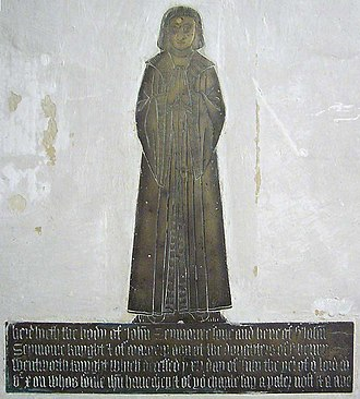 John Seymour (1474–1536) - Monumental brass of John Seymour (died 15 July 1510), eldest son of Sir John Seymour (d.1536) of Wulfhall. Great Bedwyn Church